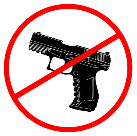 Sign with Guns are banned Illustration