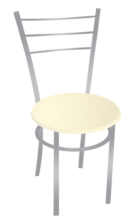 metal chair vector eps 10