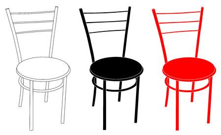 Chair set vector