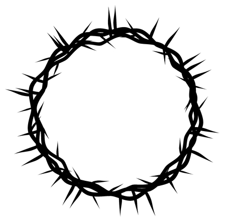 crown of thorns, Easter religious symbol of Christianity vector eps 10