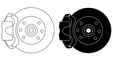 Brakes system set isolated on white background vector eps 10