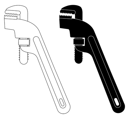adjustable wrench tool for the job vector eps 10