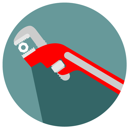 adjustable wrench tool for the job icon vector eps 10 Illustration
