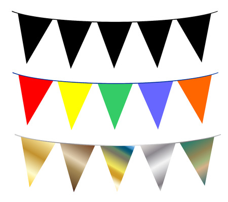 Bunting flags garland vector