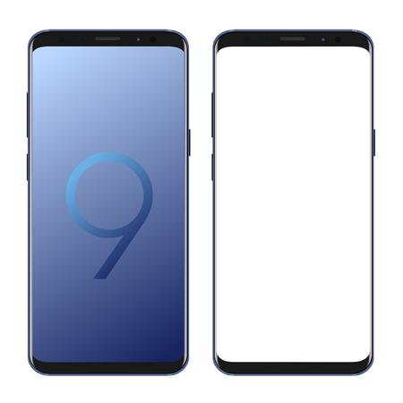 現代のスマートフォンs9ベクトル
