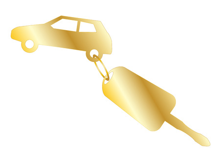 Car Key on White Background vector eps 10