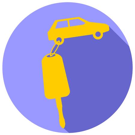 Car Key flat design icon vector eps 10