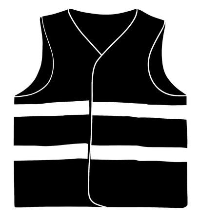 Giubbotto di sicurezza isolare su sfondo bianco vettoriale eps 10 Vettoriali