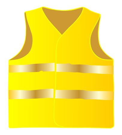 Giubbotto di sicurezza isolare su sfondo bianco vettoriale eps 10