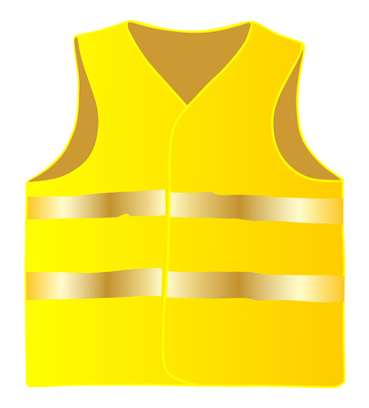 Safety vest isolate on white background vector eps 10 Illustration