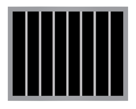 Window in prison with bars