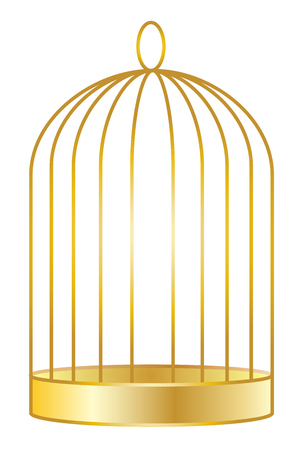Golden Birdcage vector eps 10
