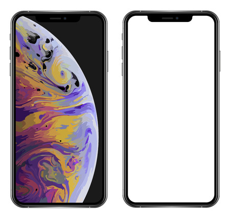 Brand new realistic mobile phone black smartphone in Apple iPhone XS Max