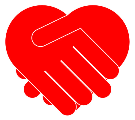 Mains tremblantes formant coeur