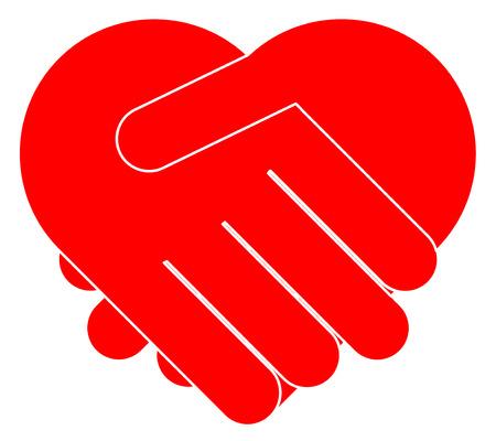 Mani tremanti che formano il cuore