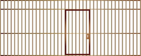 A front view of a jail cell phone isolated on white background. Stock Vector - 110980482