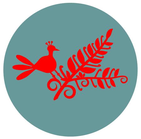 flower and bird flat design Stock Vector - 110979466