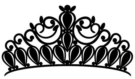 tiara crown women's wedding with stones Vektoros illusztráció