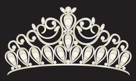 couronne de diadème mariage des femmes avec des pierres blanches