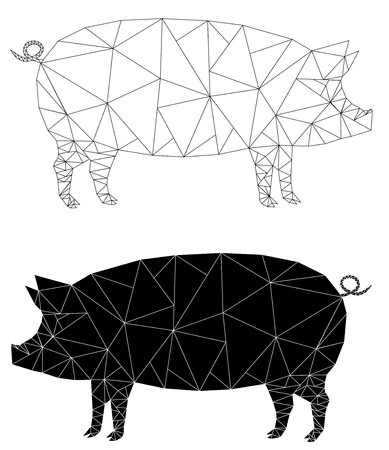 pig fat design set icon vector eps 10 Banque d'images - 120202620