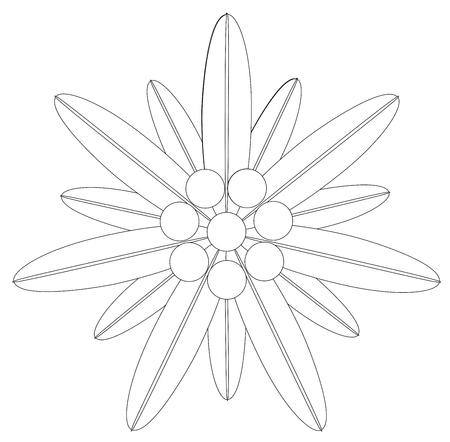 Edelweiss Flower Symbol Alpinism Logo Vector eps 10
