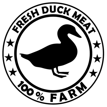 Duck icon isolated on white background vector eps 10
