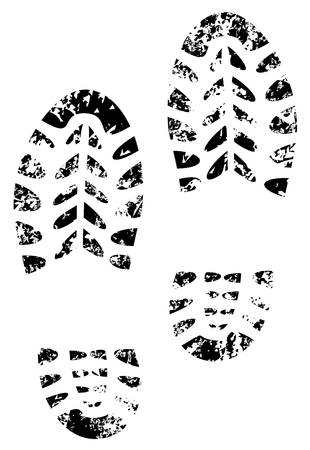 shoe print grunge illustration vector eps 10
