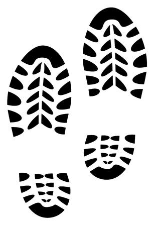 shoe print illustration vector eps 10