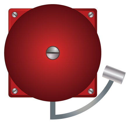 Alarm in retro design on white background vector eps 10 Ilustração Vetorial
