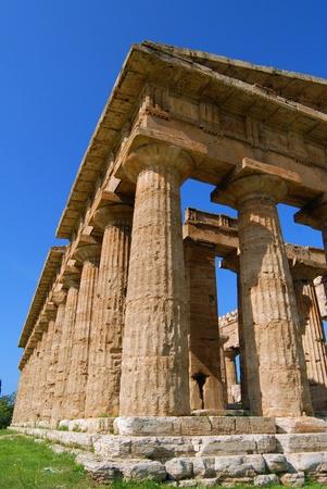 details of temples in paestum salerno, italy Standard-Bild