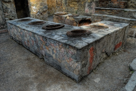 Ancient Ercolano city ruins in hdr