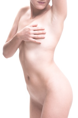naked woman wellness on white background Stock Photo - 11041004