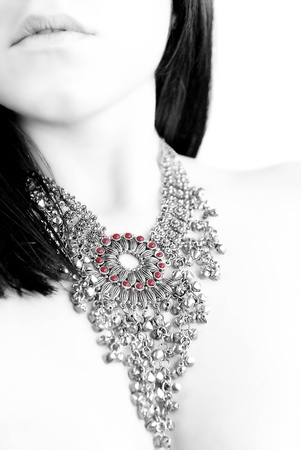 an high key of a woman with a jewel