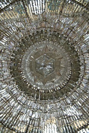 Details of crystal chandelier in Istanbul mosque photo