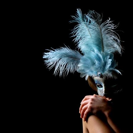sexy y aislado máscara de carnaval