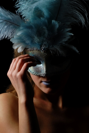sexy and isolated carnival mask