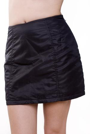 Black mini skirt photo
