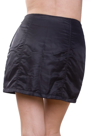 Black mini skirt photo
