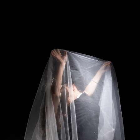 A married couples under the veil photo