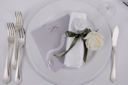Details of a wedding table photo