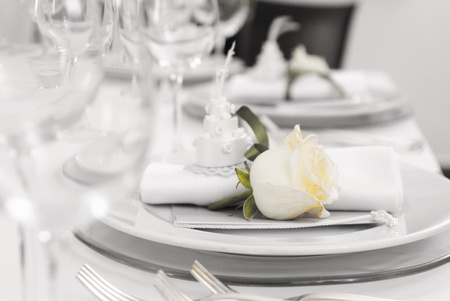 Details of a wedding table