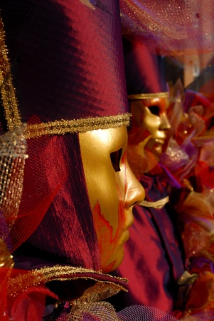 Venetian masks during Venetian Carnival Stock Photo - 11813453