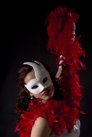 sexy and isolated carnival mask photo