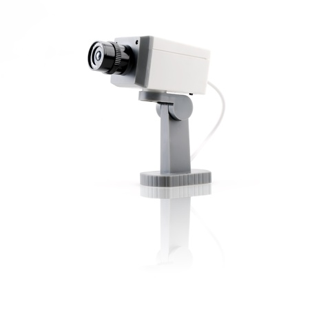 Isolated surveillance camera Stock Photo - 11964561