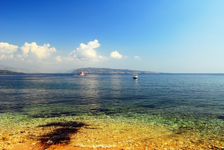 fantastic view: Fantastic view of a Kerkira, Corf�, Grece, beach