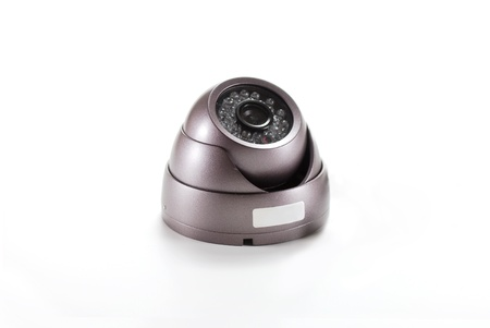 Bronze isolated video surveillance camera photo