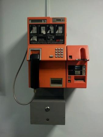 sip: Vintage sip public telephone Stock Photo