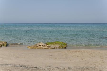 sud: Frassineto beach in Otranto in sunny day Stock Photo