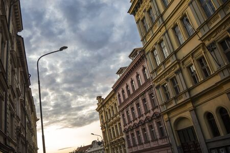 Various details of Praga 3 roads Standard-Bild