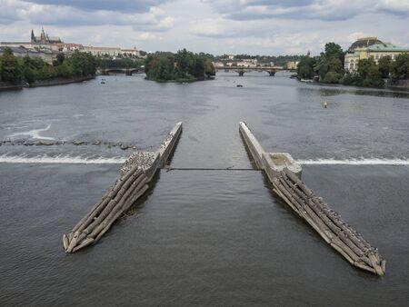 Landscape of beautiful channel in Praga Chech Republic